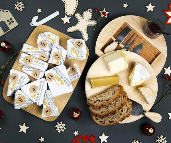 Calendrier de l'avent de la boite du fromager