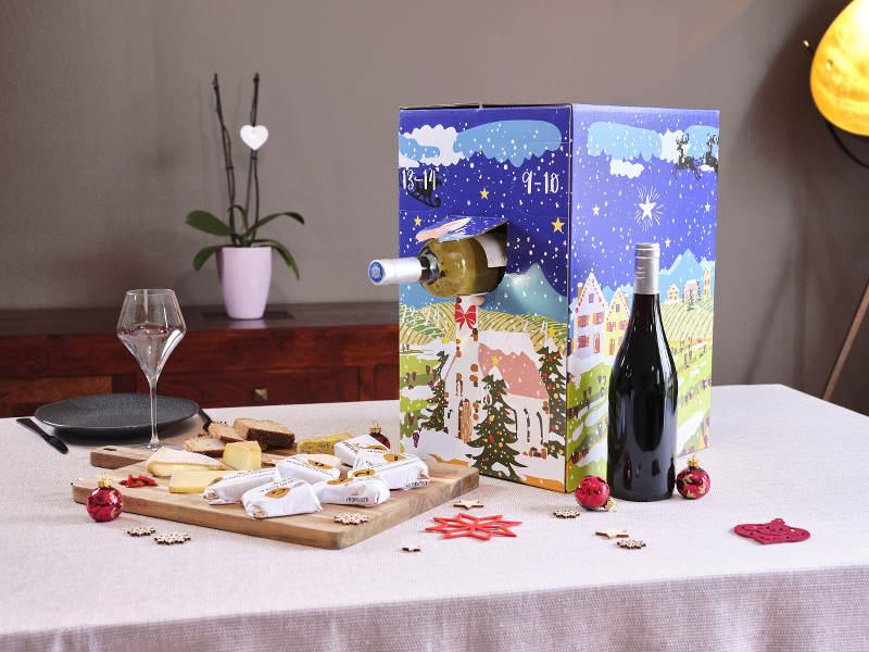 Calendrier de l'avent du vin La Boite du Fromager 2021
